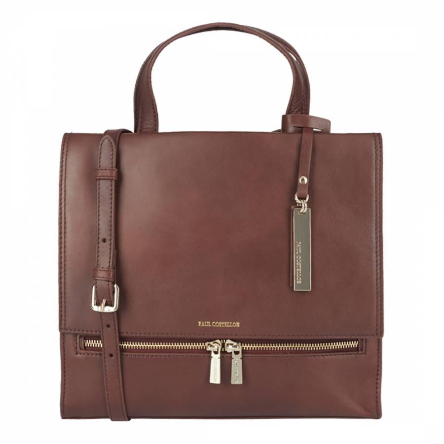 37e55881cec6 Paul Costelloe Tan Leather Gia Bag