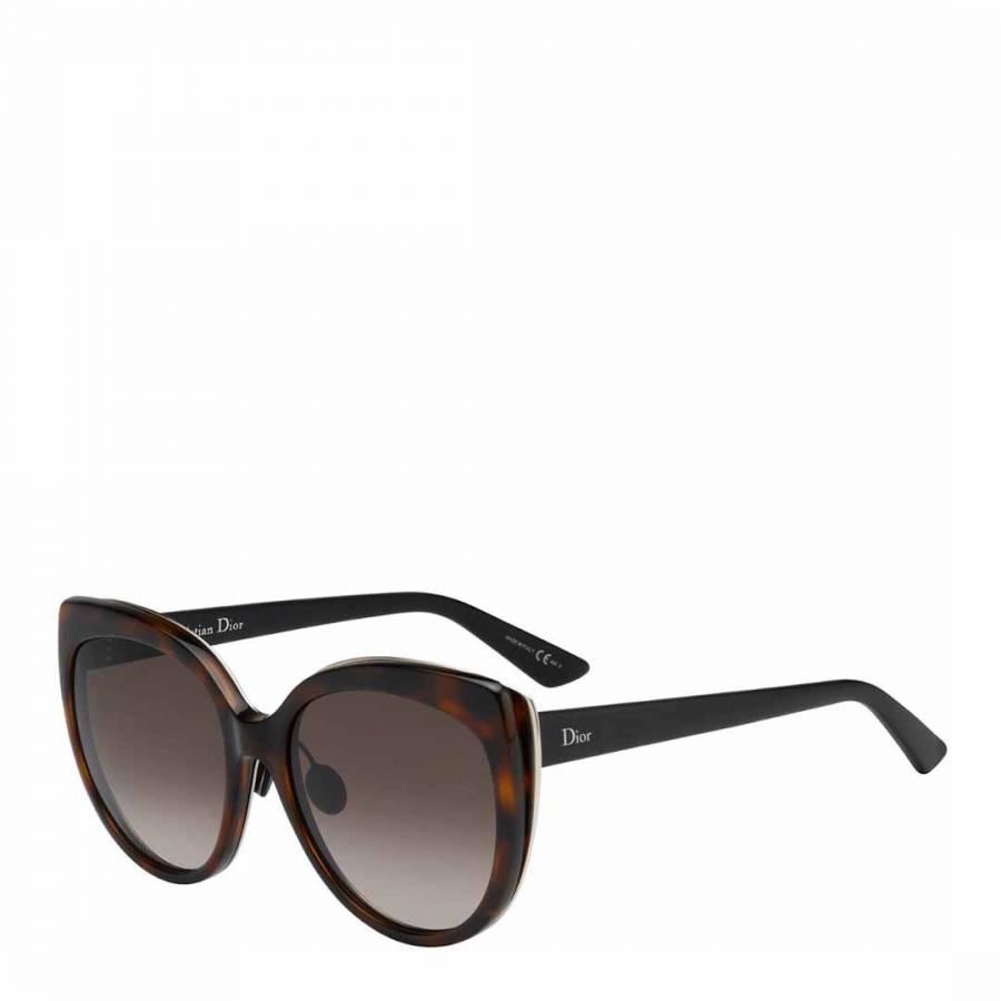28f5d1fd58 Dior Ladies Brown Havana Dior Sunglasses 57mm. prev. next. Zoom