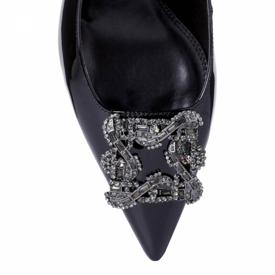 2e7d59adc4577 Black Patent Betti Jewelled Brooch Court Shoes - BrandAlley