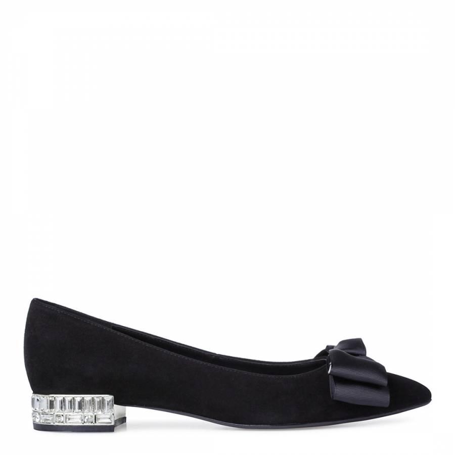 8b3859af3747e Black Patent Betty Jewelled Brooch Stiletto Heels - BrandAlley