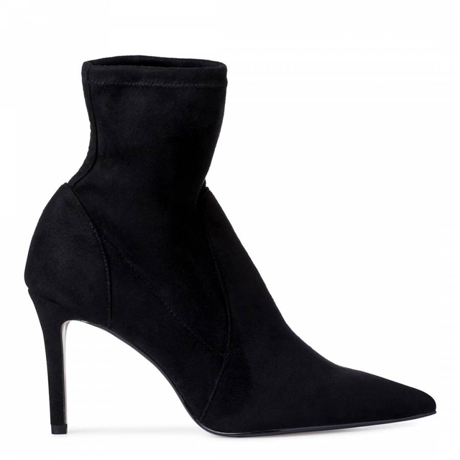 Black Micro Fibre Orlland Sock Boots