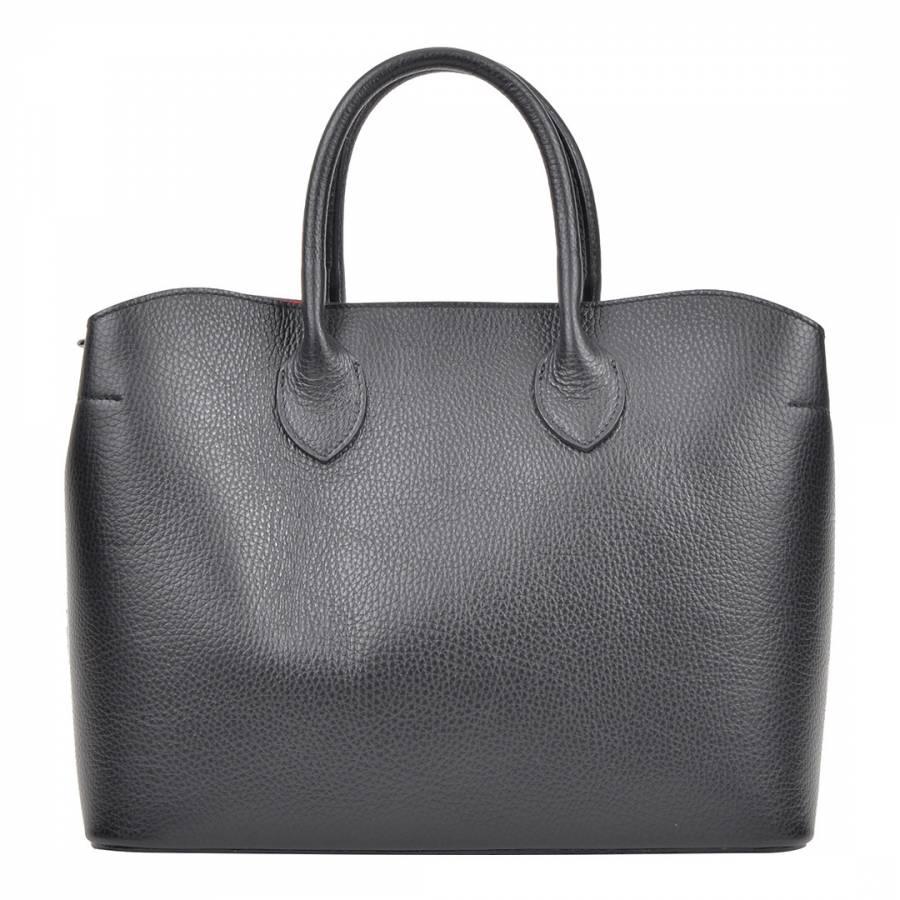 Black Leather Isabella Rhea Top Handle Bag 303e0a5f33