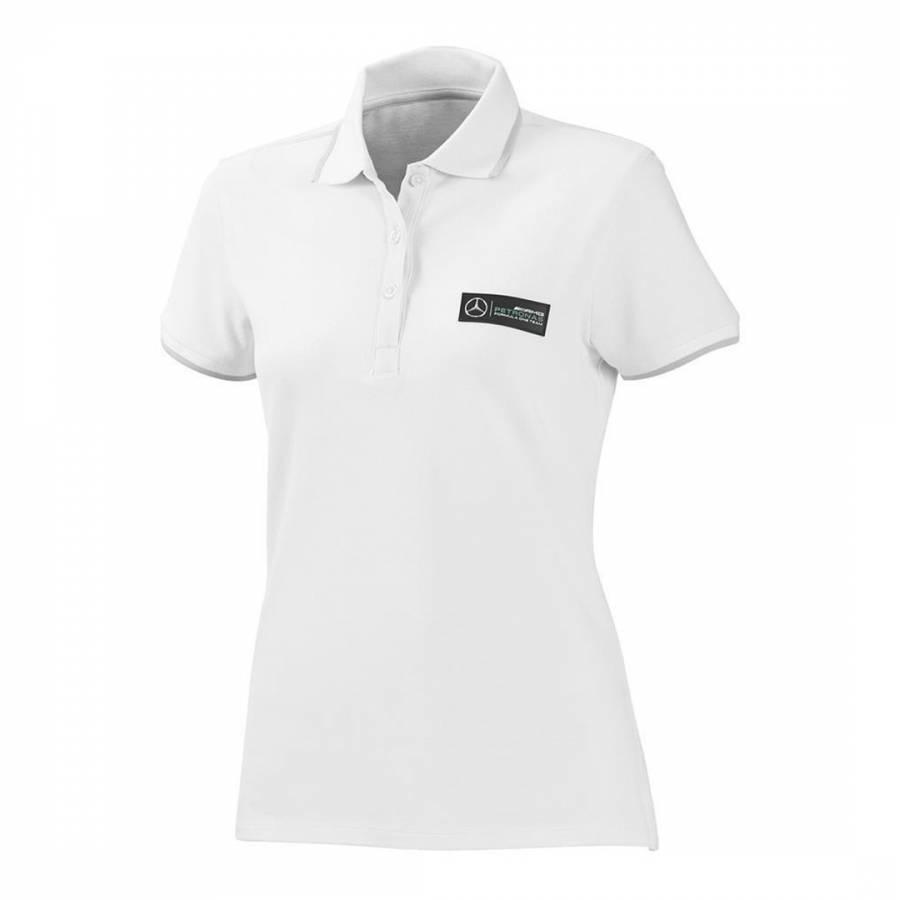 Image of Women's White Classic Cotton Polo