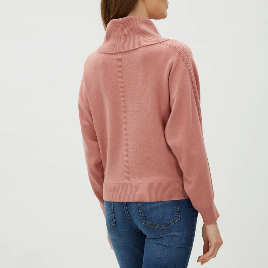 Pale Pink Slouchy Cowl Neck Cashmere Blend Jumper BrandAlley
