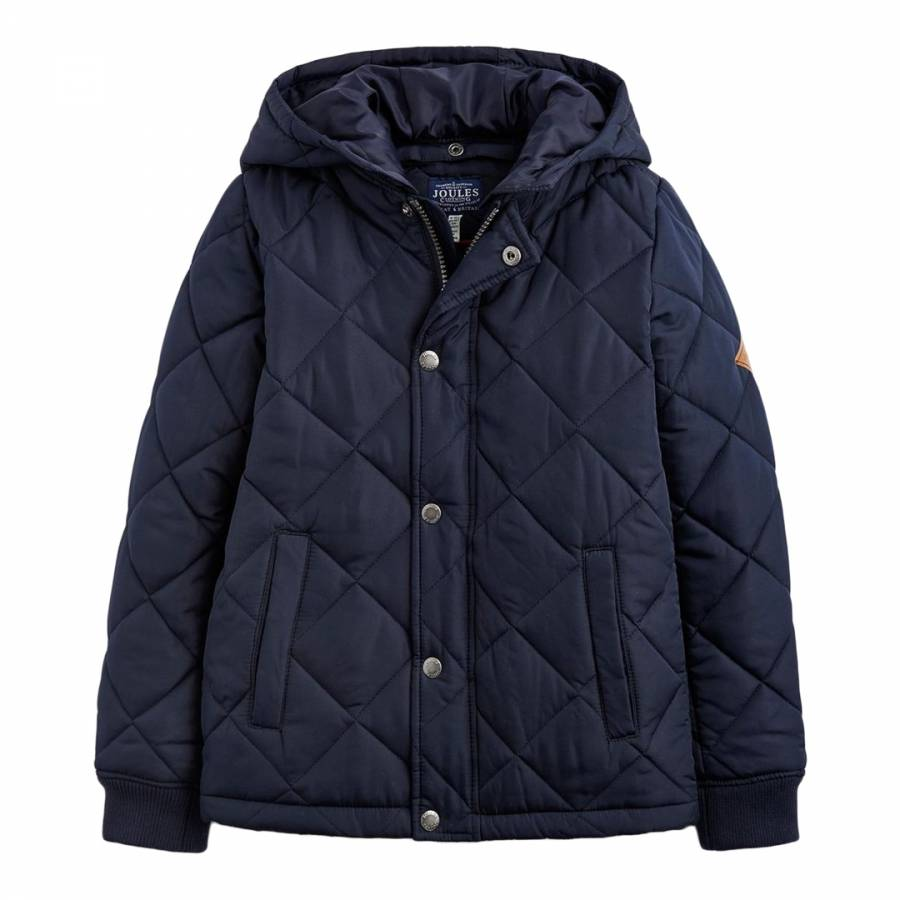 6a6c441fa5 Boys Navy Murray Quilted Bomber Jacket - BrandAlley