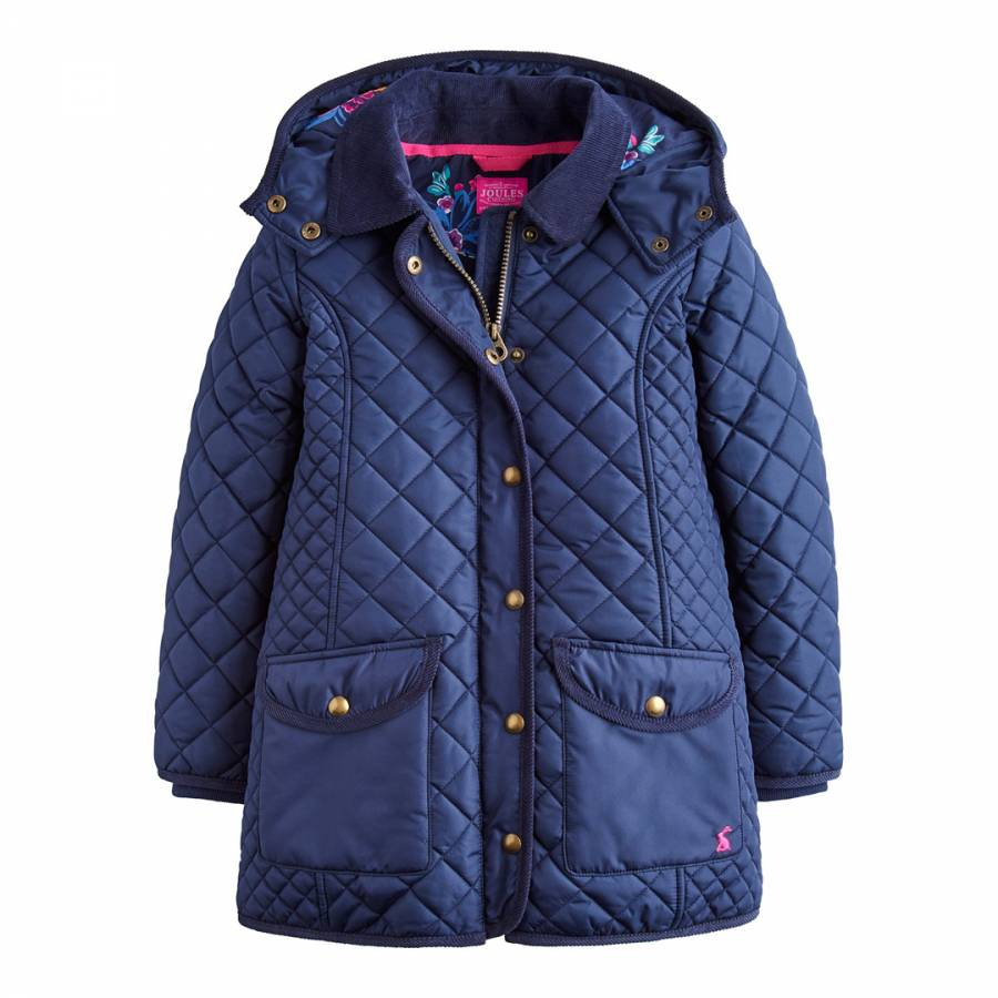 Joules Girls Newdale Quilted Jacket 11 12 in Fuchsia Pink