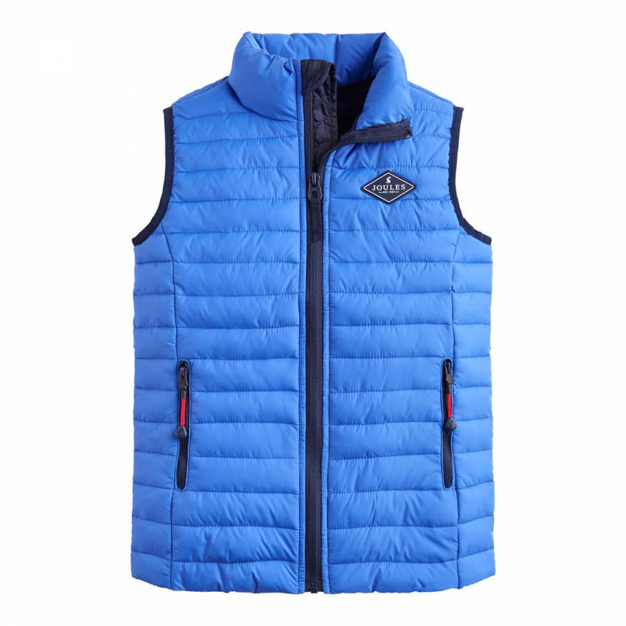 2932f5018 Boys Blue Croft Quilted Gilet - BrandAlley