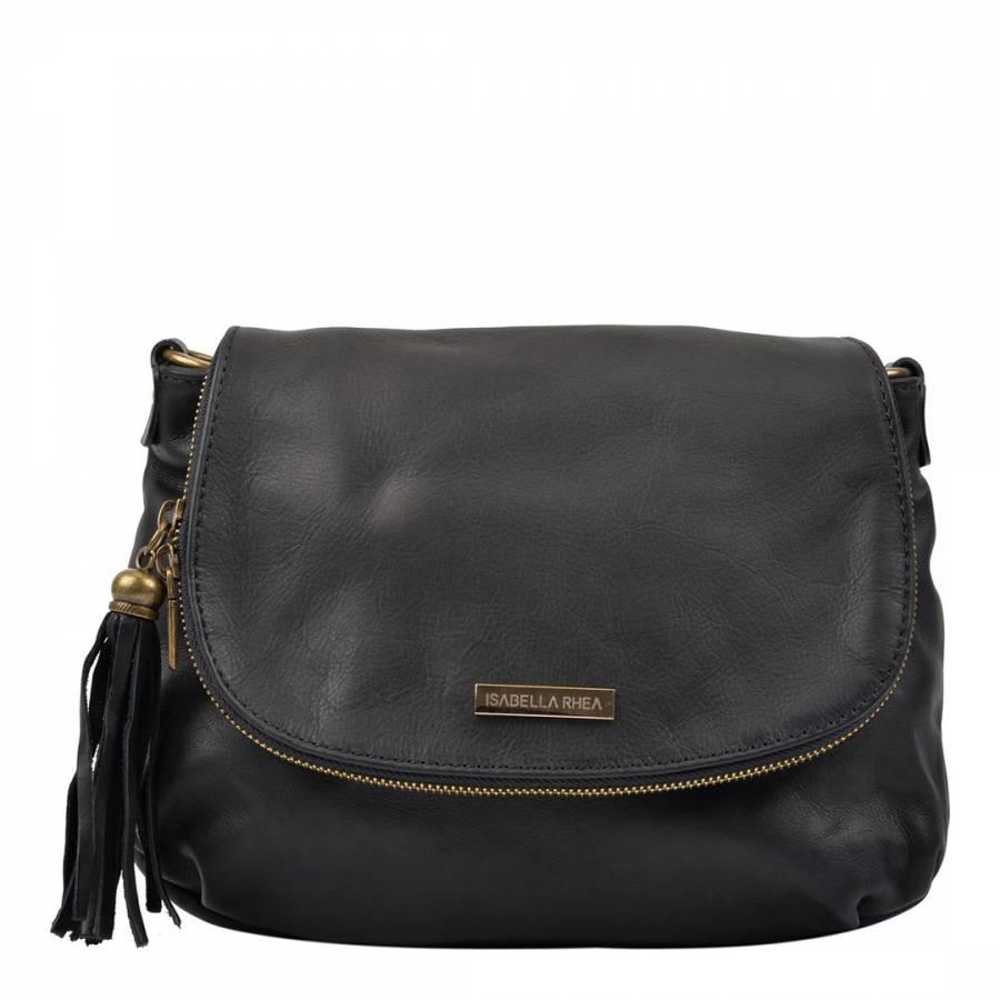 82fddfd9a7ef Zoom · Isabella Rhea Black Leather Isabella Rhea Crossbody Bag