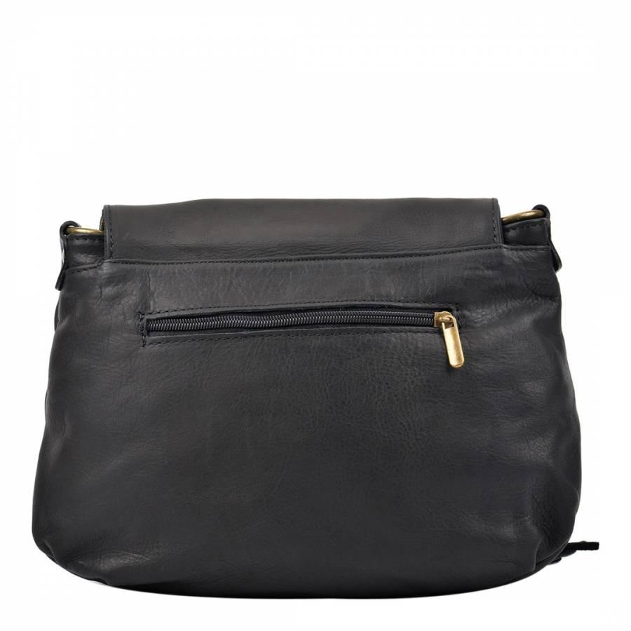 cfec11edf890 Black Leather Isabella Rhea Crossbody Bag - BrandAlley