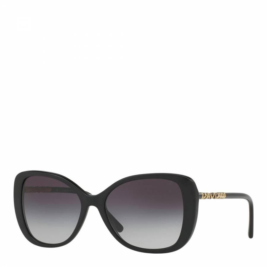 d0d1499f0c Burberry Ladies Black Gold Burberry Sunglasses 57mm. prev. next. Zoom
