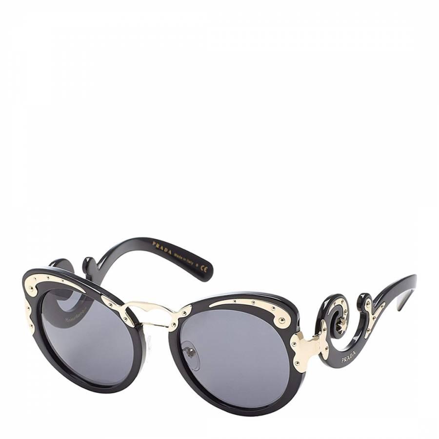 2a8685c7fa56 ... greece prada ladies black gold prada sunglasses 54mm e7a22 799bd