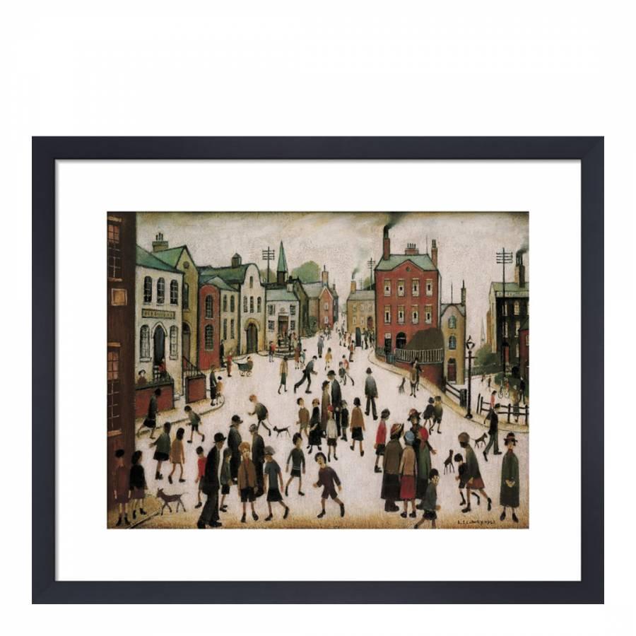 8850d9d3198 LS Lowry A Village Square Framed Print