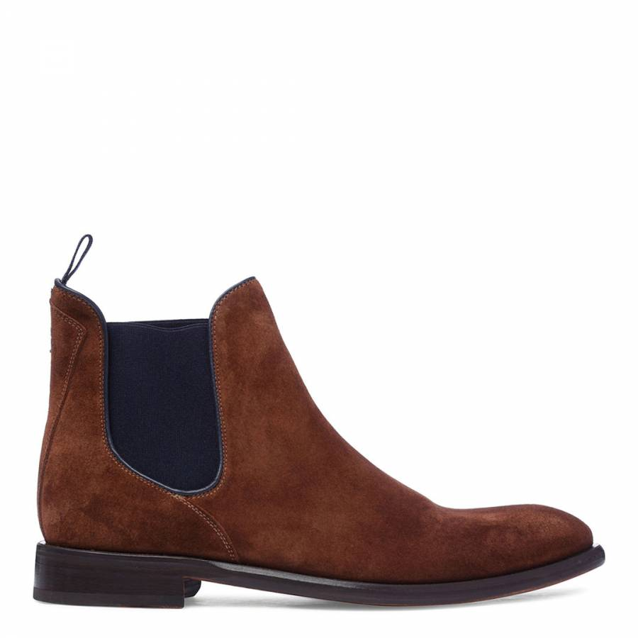 Oliver Sweeney Men S Tan Suede Balassini Slip On Chelsea Boots Ebay