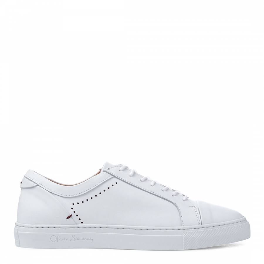 White Leather Vendas Trainers - BrandAlley