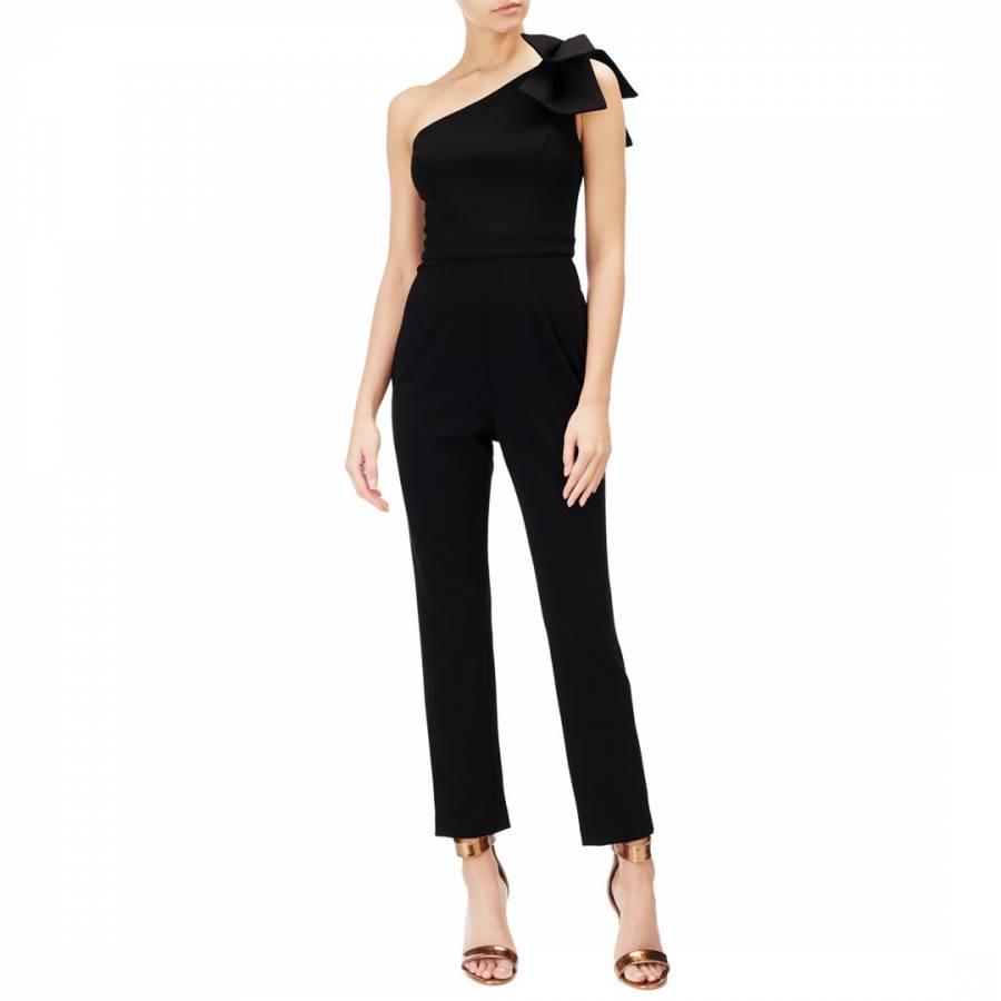 6cc51cc581 Adrianna Papell Black One Shoulder Jumpsuit