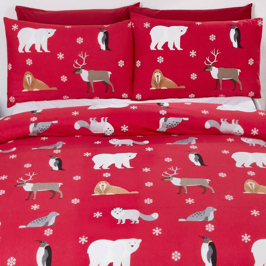 Home Furniture Diy Bedding Sets Duvet Covers Arctic Animals Friends Soft Cosy Brushed Cotton Duvet Set Bedding Brand New Uk Bortexgroup Com