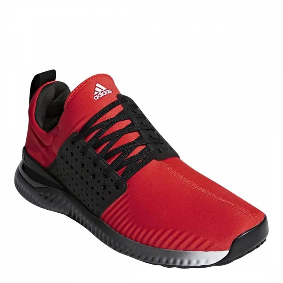 uk availability 5e93e e8adf Red Adicross Textile Bounce Trainers - BrandAlley
