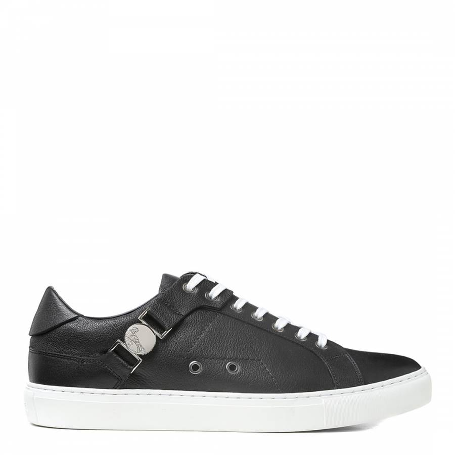 Black Leather Versace Collection Sneakers - BrandAlley