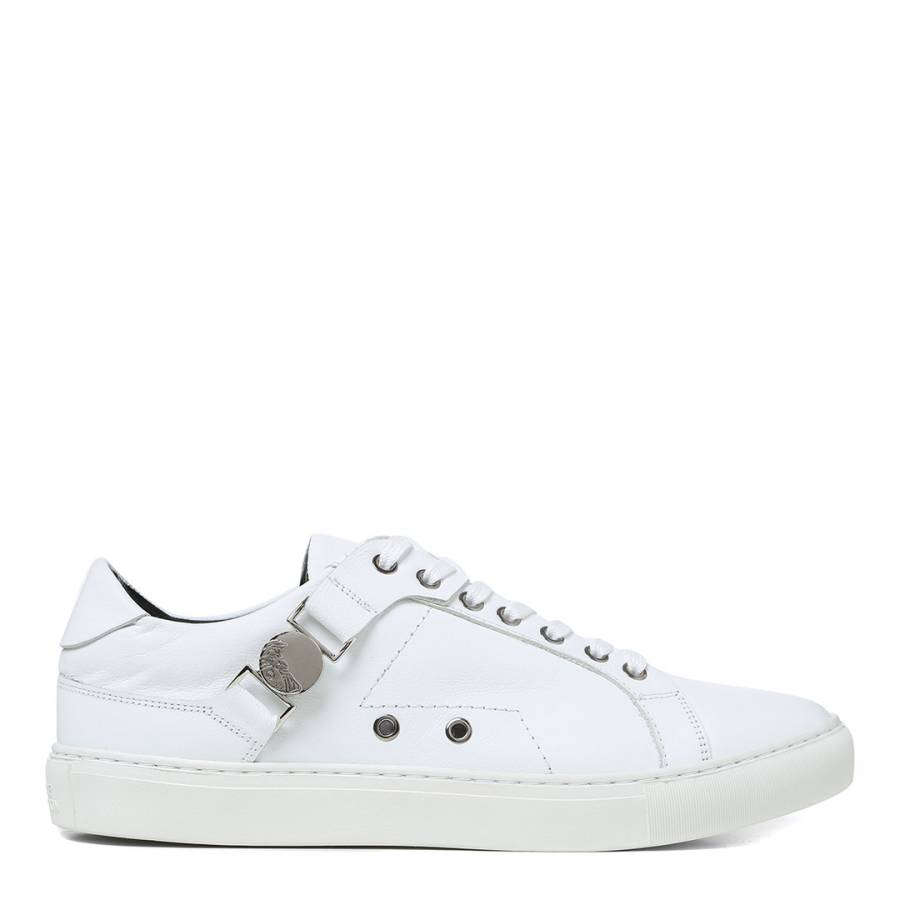White Leather Versace Collection Sneakers - BrandAlley