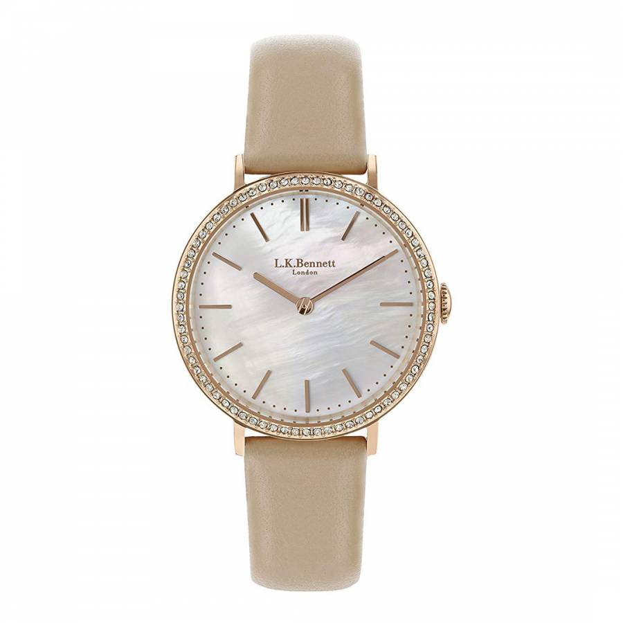 Mother Of Pearl Watch With Rose Gold Casing Brandalley