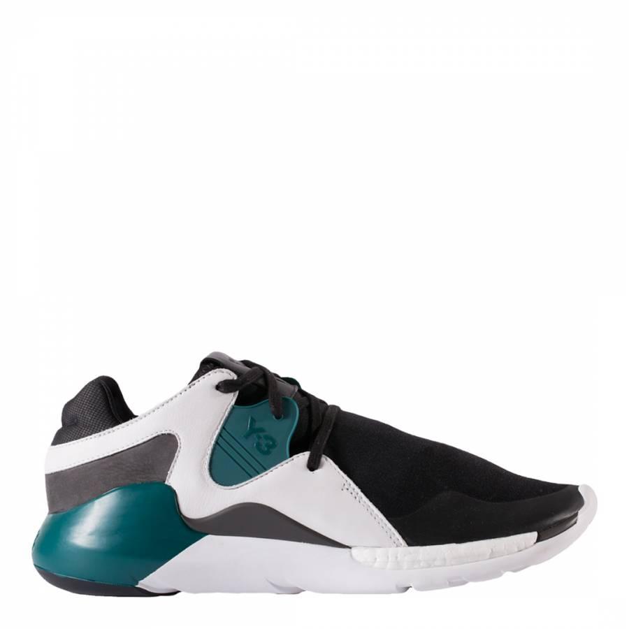 9dca74e8b adidas Y-3. Black Multi Y-3 QR Run Sneakers