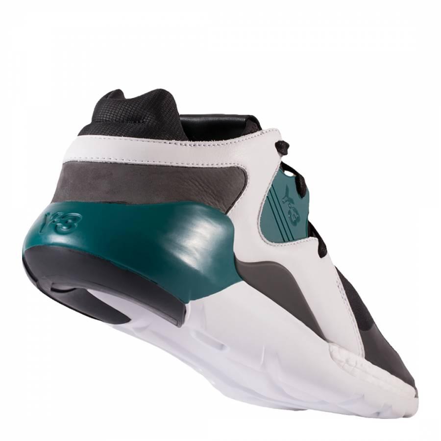 b21db9130db62 Black Multi Y-3 QR Run Sneakers - BrandAlley