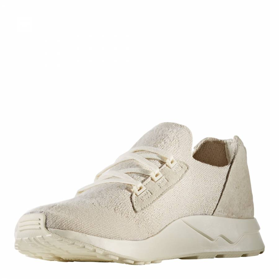 261e1f81f White Adidas Wings+Horns ZX FLUX X PK Sneakers - BrandAlley