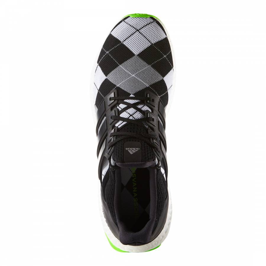 ddcdaa9f5ae6a Black Argyle Adidas By Kris Van Assche Ultra Boost Sneakers - BrandAlley