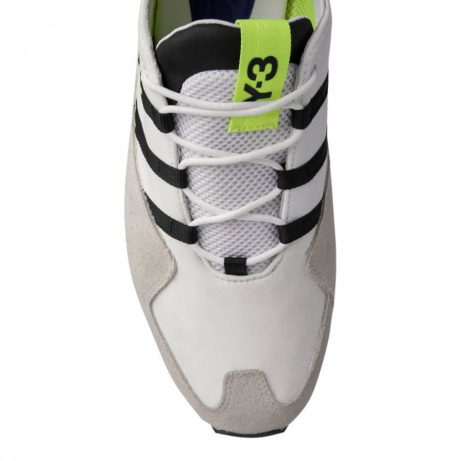 f17ea111265d1 White Y-3 Kyoshu Run Sneakers - BrandAlley