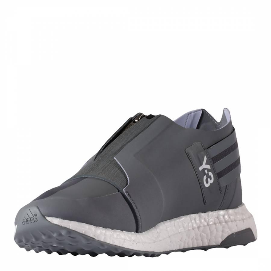 e32c915a1104e Grey Y-3 X-Ray Zipped Low Sneakers - BrandAlley