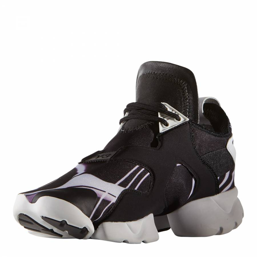 4168885f2 Black Y-3 Kohna Lightning Bolt Sneakers - BrandAlley