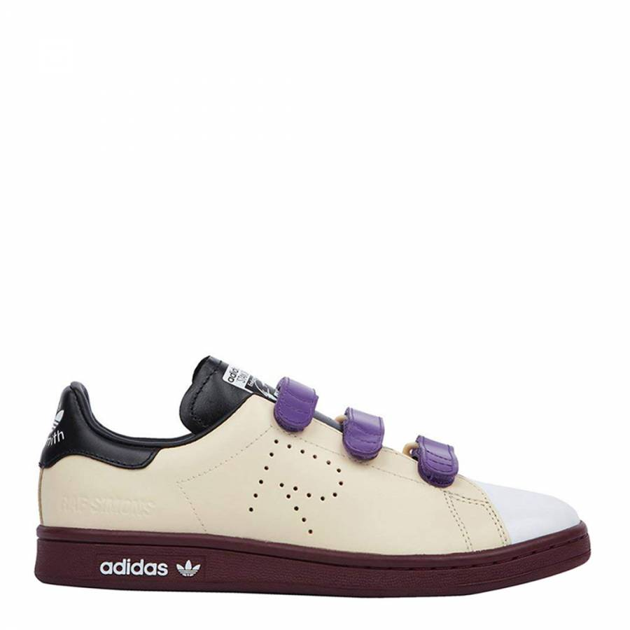 the latest 4cd5c 7dc7b Adidas By Raf Simons Cream Leather Raf Simons Stan Smith Comfort Sneakers