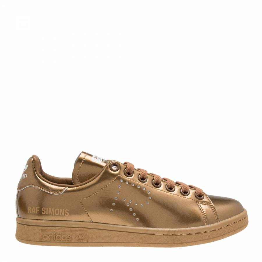 the best attitude 4722b 0961e Gold Leather Raf Simons Stan Smith Sneakers - BrandAlley