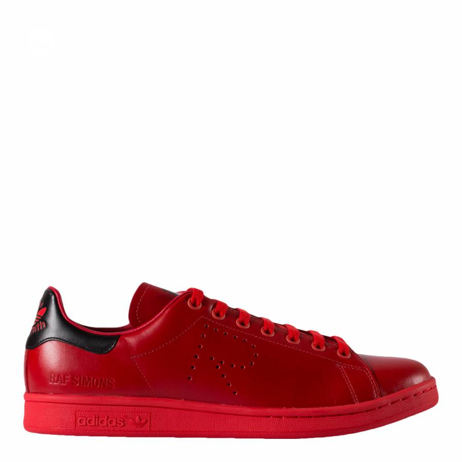 huge discount 4d6c6 baf3c Adidas By Raf Simons. Red Leather Raf Simons Stan Smith Sneakers