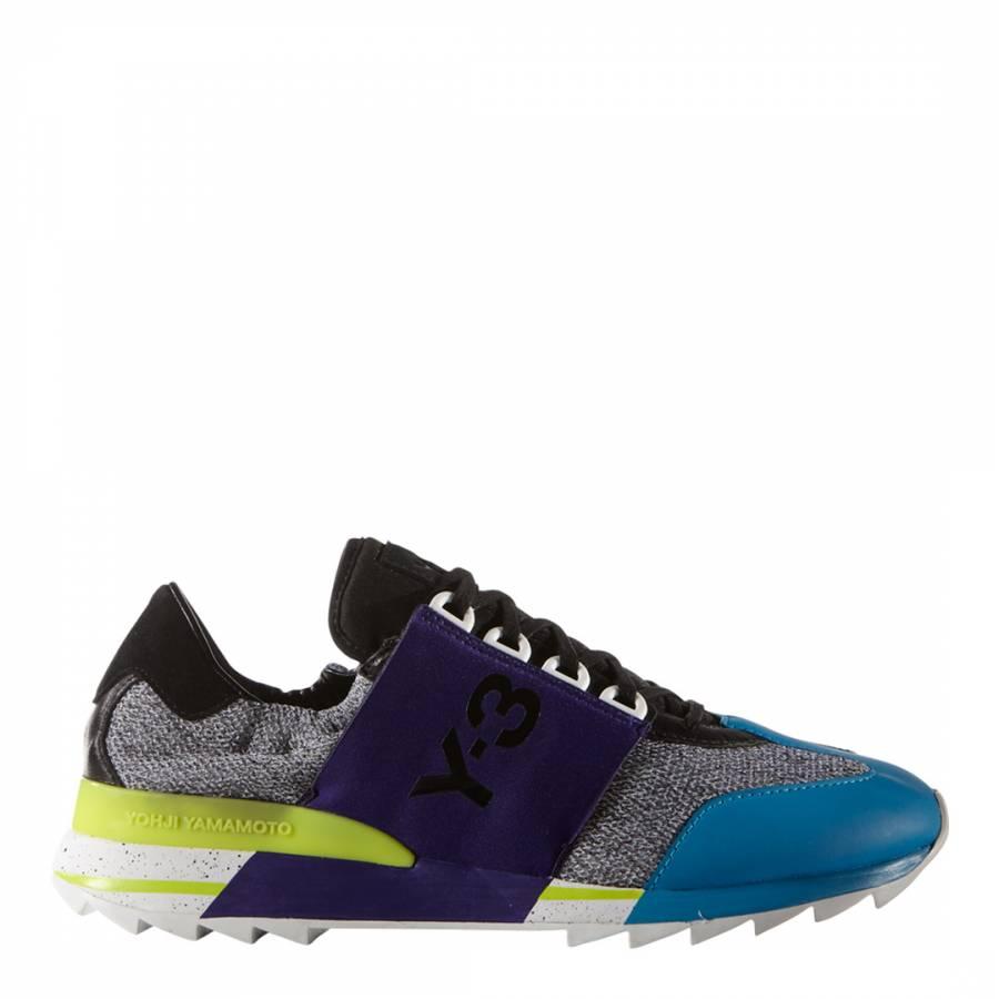 a30e9faf59524 Blue Y-3 Rhita Sport Sneakers - BrandAlley