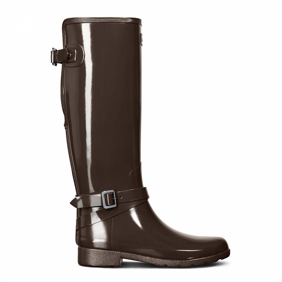 5d3c7ccbfc42c Bitter Choc Refined Adjustable Tall Gloss Boots - BrandAlley