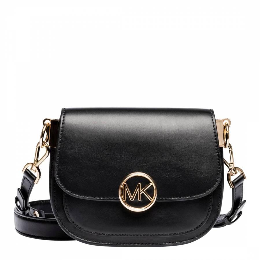 32e38e897c10d Michael Kors Black Lillie Mini Saddle Bag