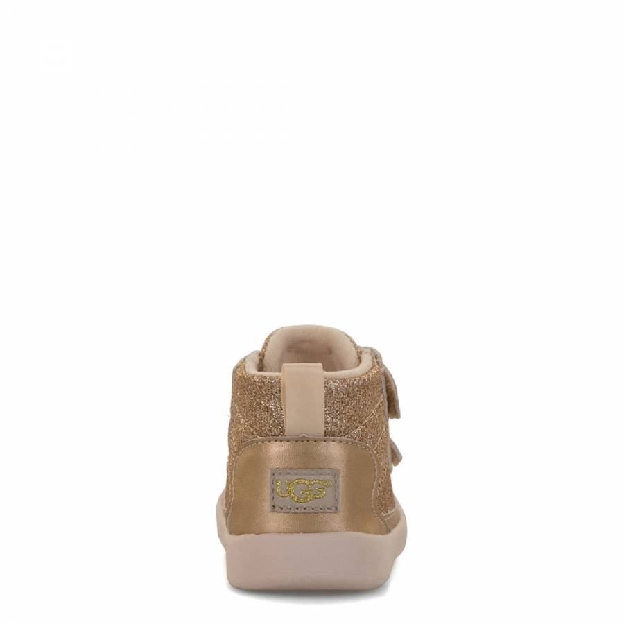10affe67ddb Baby Gold Sparkle Pritchard Trainer