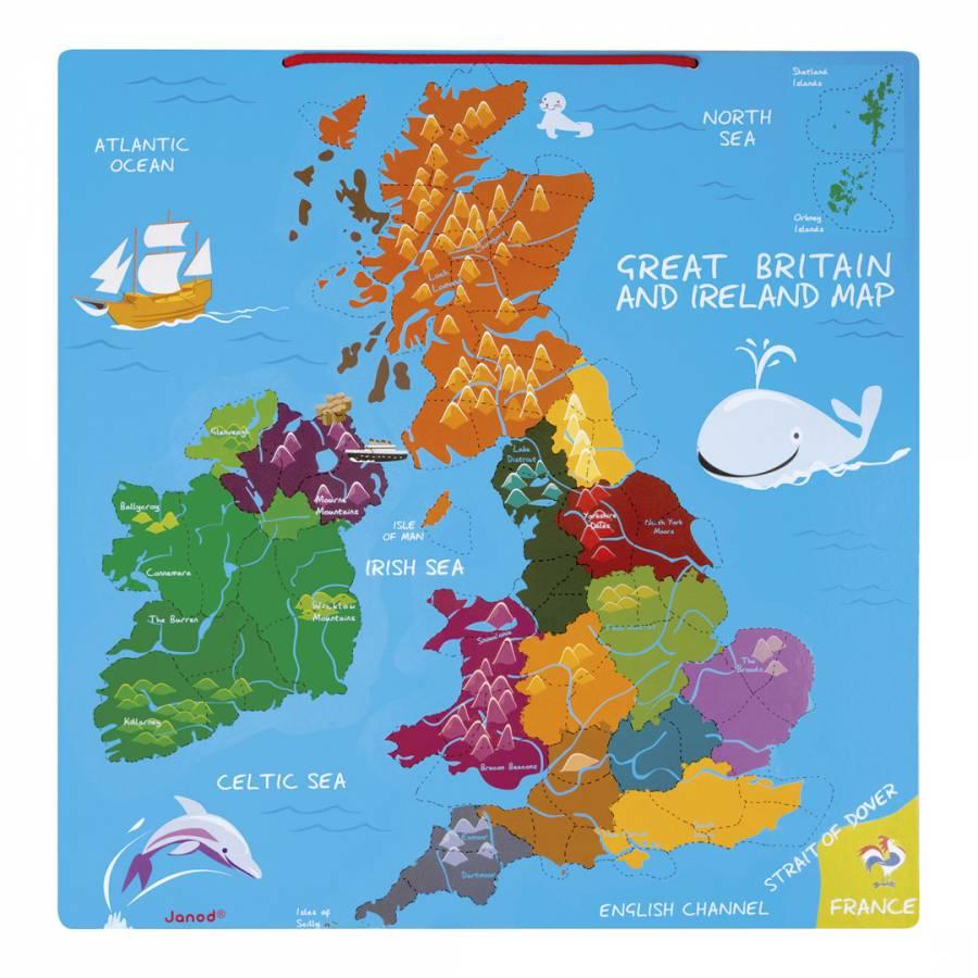 Map Of Uk Ireland.Magnetic Uk Ireland Map