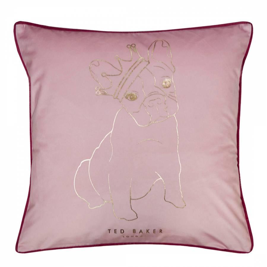 French Bulldog King Cushion Pink Brandalley