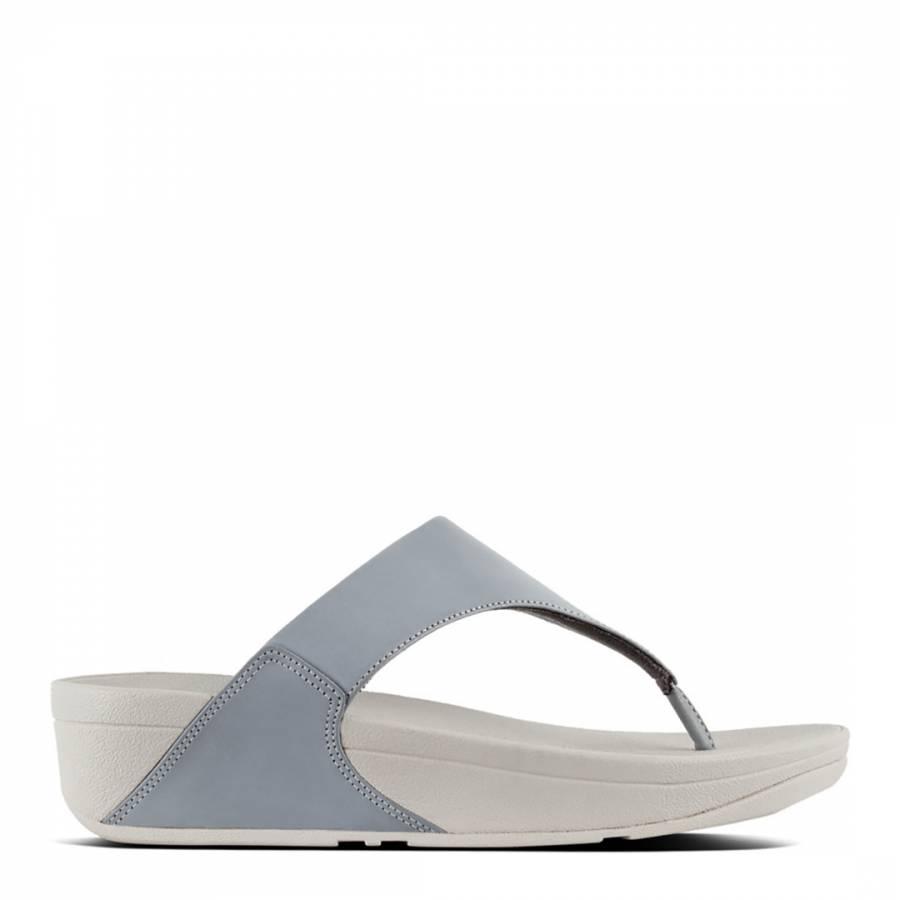 ac59a561c2f2 Dove Blue Leather Lulu Toe Post Sandals - BrandAlley