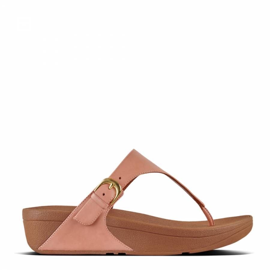 2ed87b43b Dusky Pink Leather Skinny Toe Post Shimmery Sandals - BrandAlley
