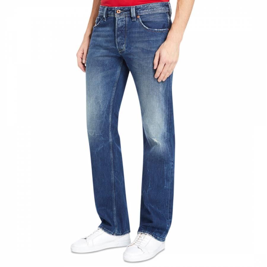 f58dfa99 Blue Denim Larkee Straight Jeans - Jeans - Clothing - Men - BrandAlley