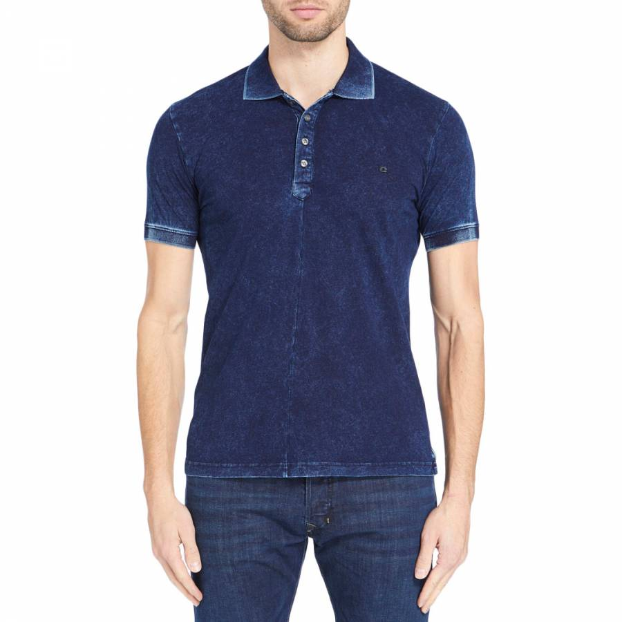 Blue Denim Donk Cotton Polo Top Brandalley