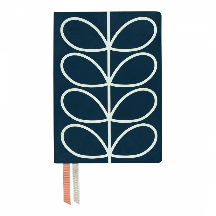 Image of A5 Classic Notebook Linear Stem Navy