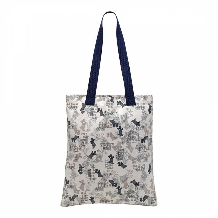 Radley Sanderson Canvas Tote Shopper Bag in Cream