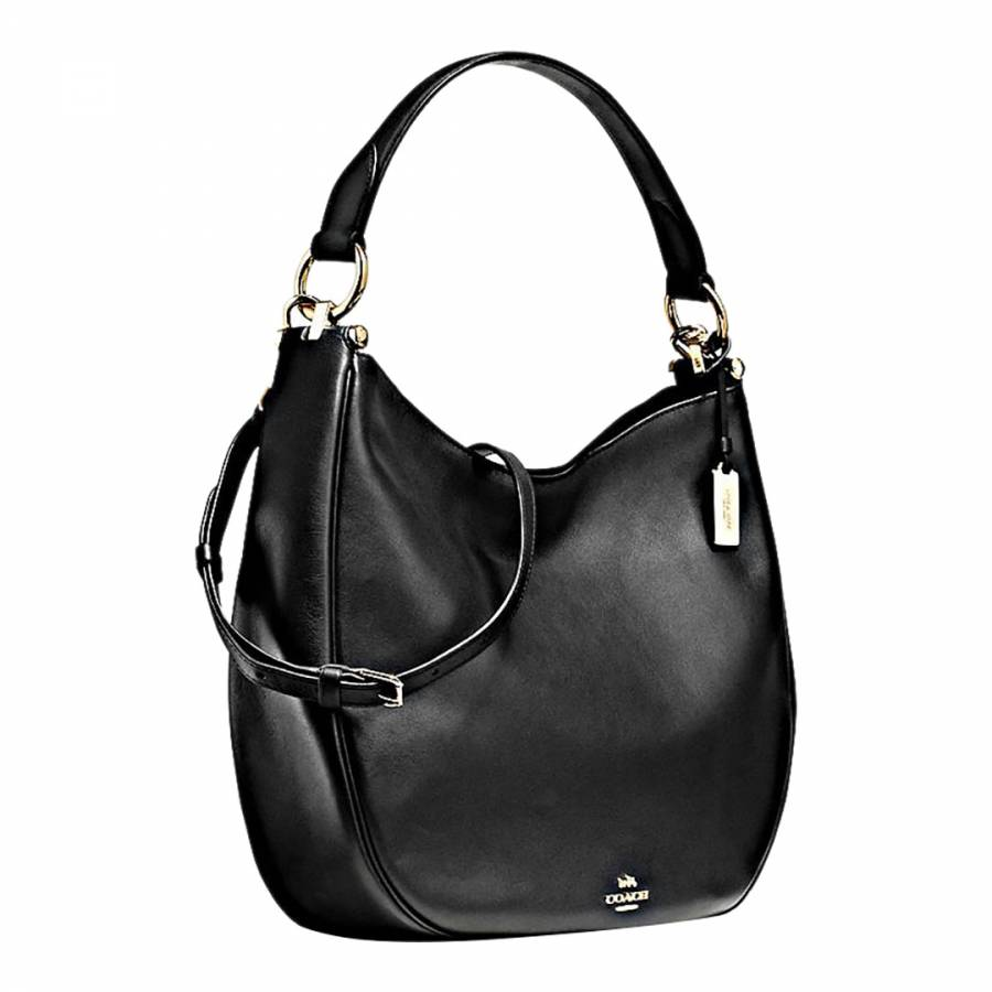 f9185a4c155a Black Glovetan Leather Nomad Hobo Bag - BrandAlley