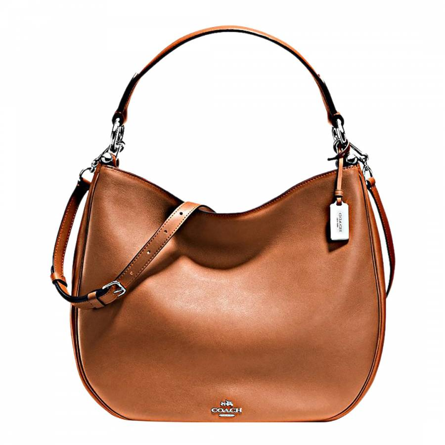 ba5f036733 Coach Camel Glovetan Leather Nomad Hobo Bag. prev. next. Zoom
