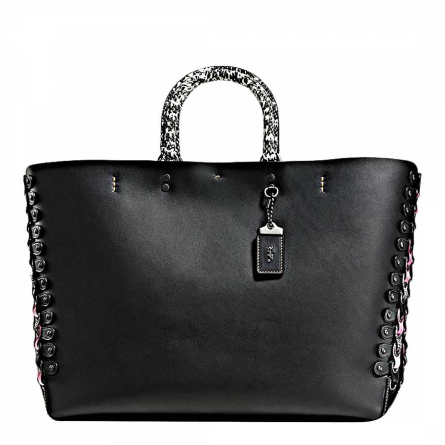 eabd760235 Black Exotic Link Detail Rogue Tote Bag - BrandAlley