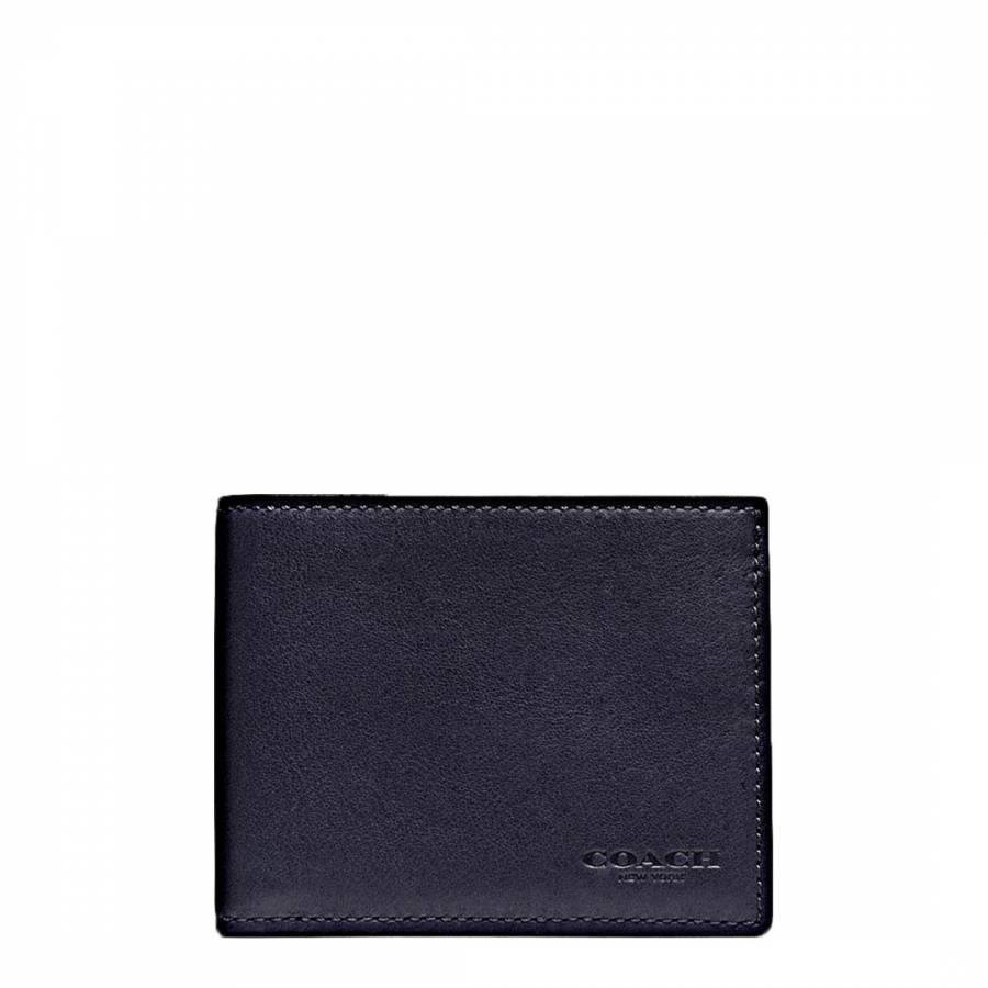 a97679f5 Coach Midnight Navy Sport Calf Slim Billfold ID Wallet